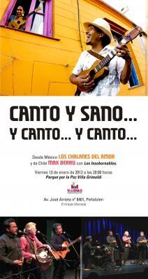 Invitación Concierto Canto y Sano. 13 de enero Villa Grimaldi