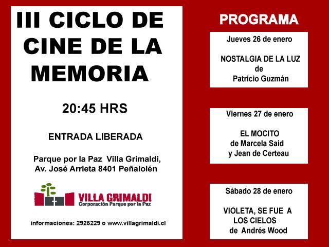 III CICLO DE CINE DE LA MEMORIA